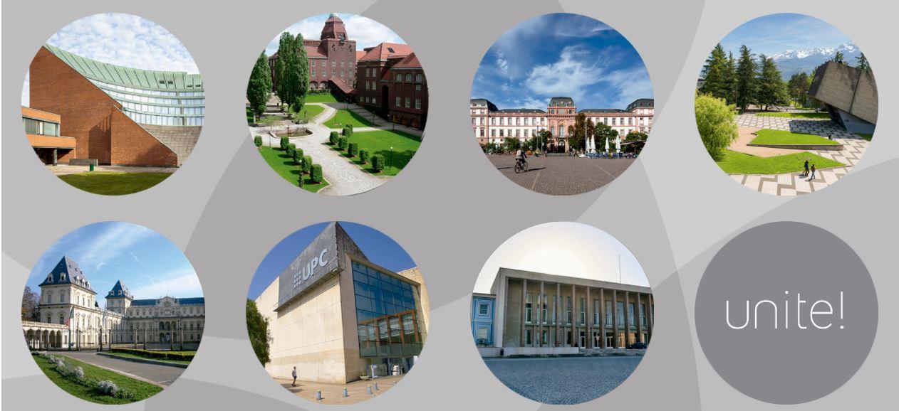 Reunión con universidades del grupo UNITE! trabajando hacia la verdadera «European University»